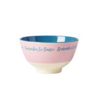 Big Raindot Remember To Dance Print Small Melamine Bowl Rice DK